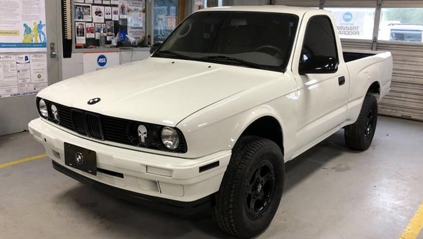 BMW for the countryside. Students built an unusual pickup truck