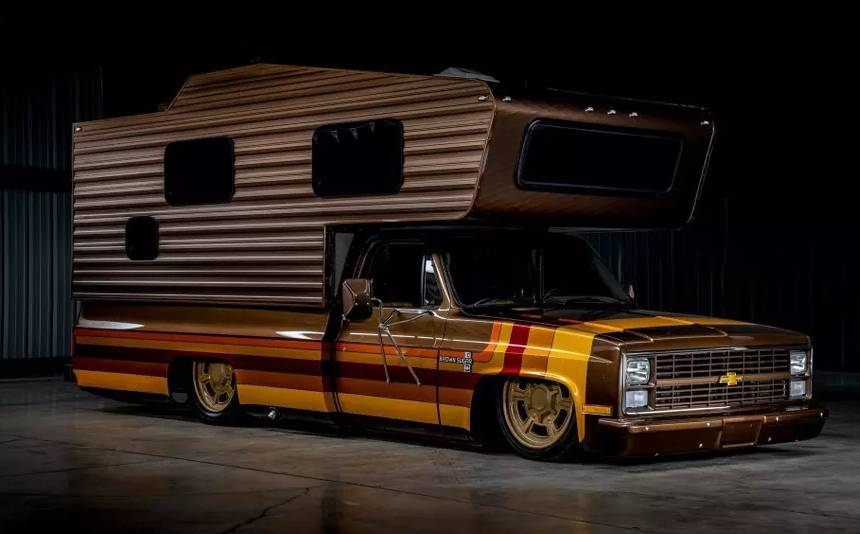 A motor home with almost no ground clearance was put up for sale